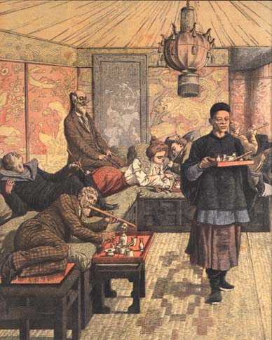 gentlemen smoking opium