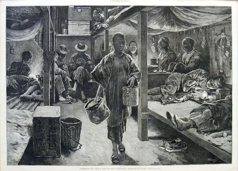 picture of opium den'